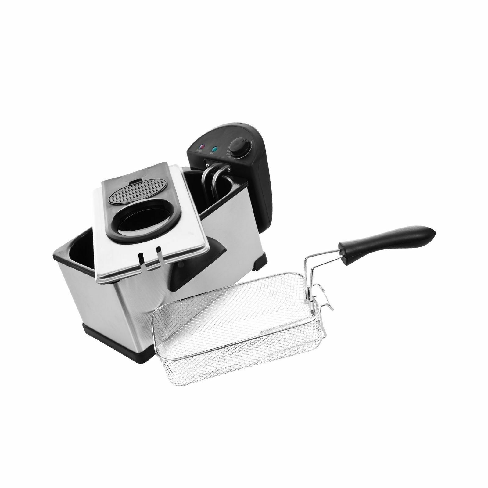 New SIGNATURE CLASSICS Stainless Steel 3.2 Qt. Electric Deep Fryer