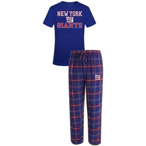 New York Giants Halftime Pajamas Shirt /& Pant Sleep Set