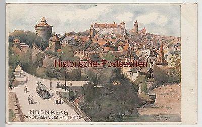 (78582) Künstler Ak Nürnberg, Panorama Vom Hallertor 1907
