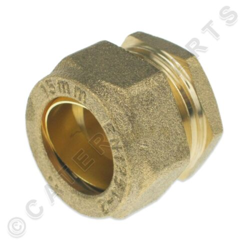 15mm COMPRESSION STOP END BLANK OFF BLANKING CAP COPPER GAS PIPE TUBE FITTING
