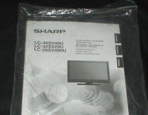 sharp lc 42d64u lc 32sv29u lc 262v490u manual only ebay rh ebay com sharp lc 42d62u manual sharp lc-42d64u manual pdf