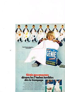 Q Collectibles Publicité Advertising 1969 La Lessive Genie