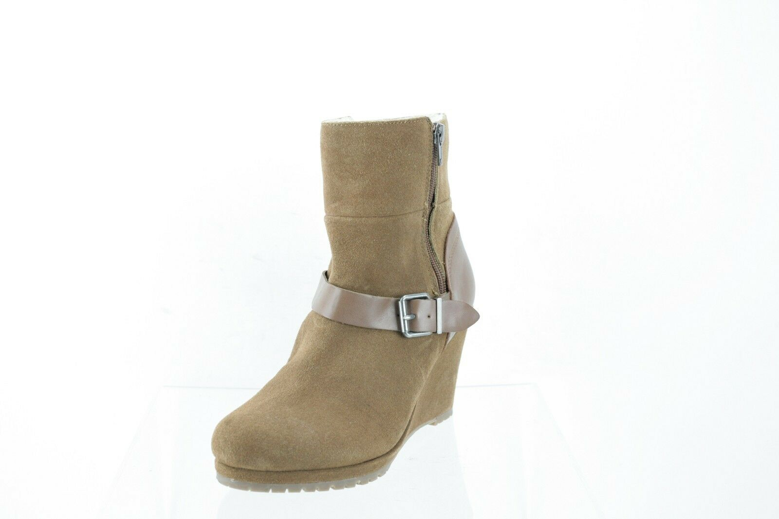 Dolce Vita Gwynn Brown Suede Ankle Boots Women's Shoes Size 8.5 M NEW RTL $220