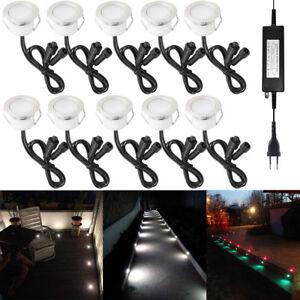 6-10er Set Φ45mm 12V LED Boden Einbaustrahler Leuchte Lampe Spot wasserdicht