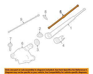 BMW OEM 11-16 X3 Wiper-Rear Window Blade 61627213241