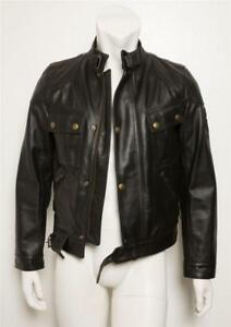 BELSTAFF-Mens-PURE-MOTORCYCLE-Black-Heavy-Thick-Leather-Biker-Moto-Jacket-S-NEW