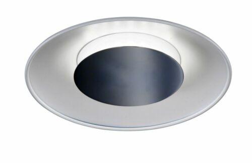 WOFI Deckenleuchte Rondo 13 Watt LED 750lm 3000K Deckenlampe weiß Chrom indirekt