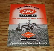 1948-1952 Ford Tractor Dearborn Farm Equipment Model 8N Sales Brochure 49 50 51