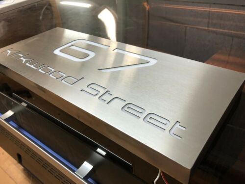 LED Mailbox House Farm Sign Plaque Stainless Steel Marine Grade 600mm x 400mm