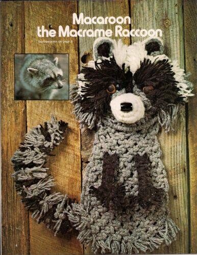 #7122 Macrame Animal Art Vol II Craft Book Patterns /& Instructions