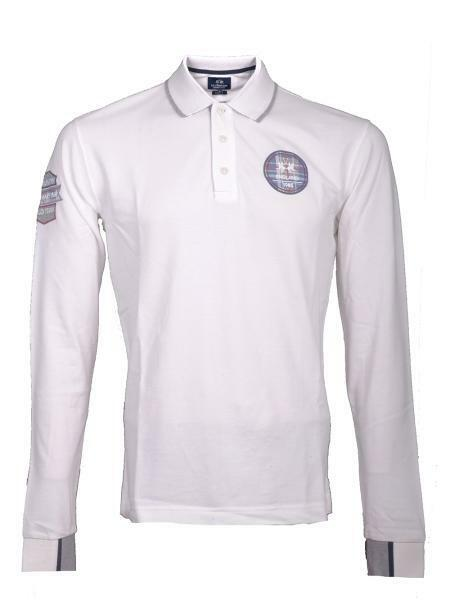 LA MARTINA POLO SHIRT MMP613 Bianco ENGLAND Team Supplier Cotone Piquet Regular