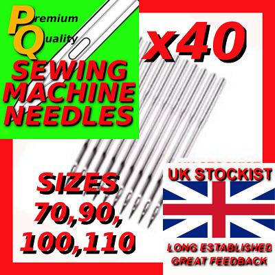 40 MIXED SIZES INDUSTRIAL SEWING MACHINE NEEDLES 16X231 BROTHER//SINGER//JUKI