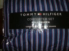 TOMMY HILFIGER CHRISTOPHER  STRIPE  FULL QUEEN  COMFORTER SHAMS STANDARD