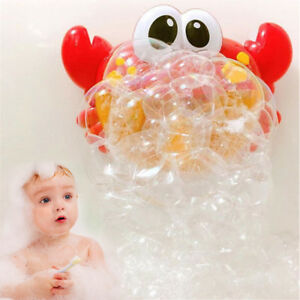 Crab Bubble Maker Automated Spout Bubble Machine Bath Shower Kids Fun Toy & box
