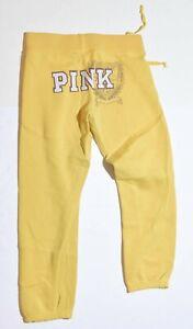 Woman-039-s-VICTORIA-039-S-SECRET-PINK-Yellow-Sweat-Pants-Bottoms-Junior-Size-XS
