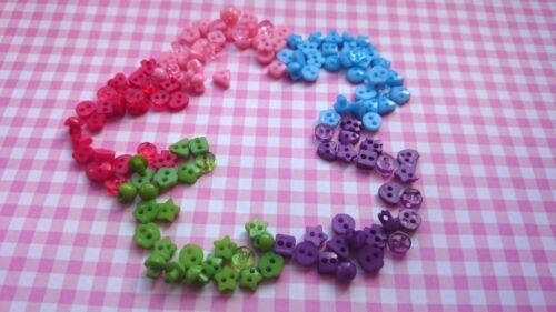 Poupée Craft Sewing Tiny Baby Mini 6 mm Boutons mixtes en forme