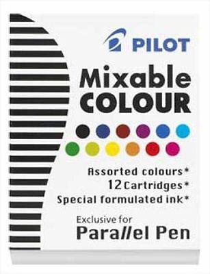 Pilot Refills Parallel - 12 Colors Assorted  Fountain Pen Cartridge - NEW