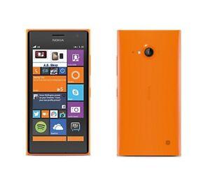 Nokia-Lumia-735-in-Orange-Handy-Dummy-Attrappe-Requisit-Deko-Ausstellung