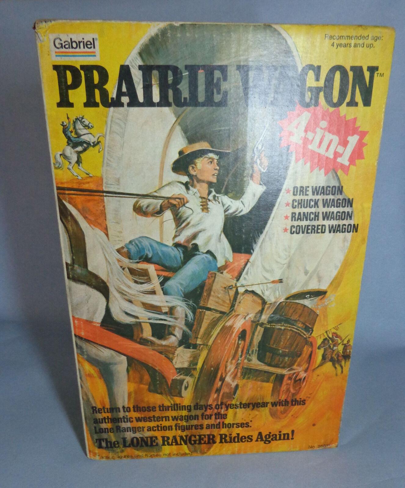 1  6 Lone Ranger Prairie Wagon 4 i 1 -årgång Gabriel leksak - SEALD NY
