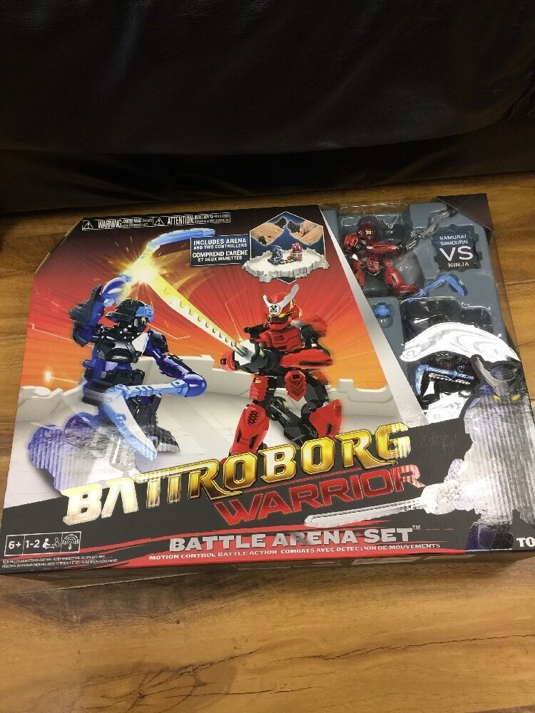 Battroborg Warrior Battle Arena Set Samurai Samurai vs Ninja Set, BNIB 24Hr Disp