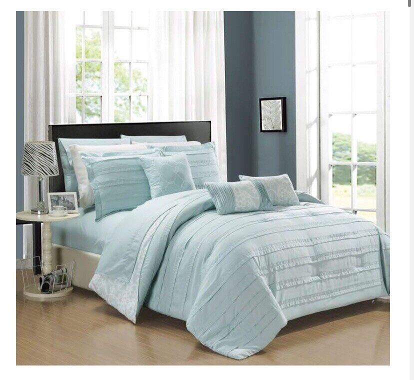 Chic Home Design Llc Peninsula Comforter Set Grey Queen 10 Piece For Sale Online Ebay