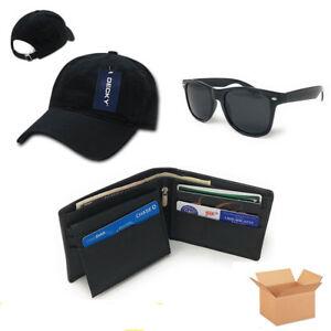 c63565593d Casaba Men s Birthday Gift Set Box Baseball Dad Cap Leather Wallet ...