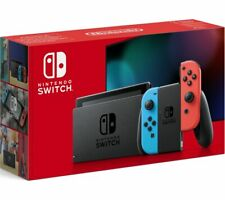 NINTENDO Switch - Neon Red & Blue - Currys