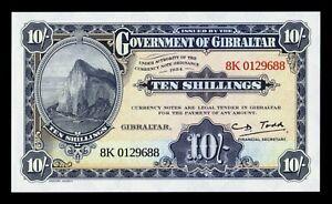 B-D-M-Gibraltar-10-Shillings-50-Pence-1934-2018-Pick-New-SC-UNC