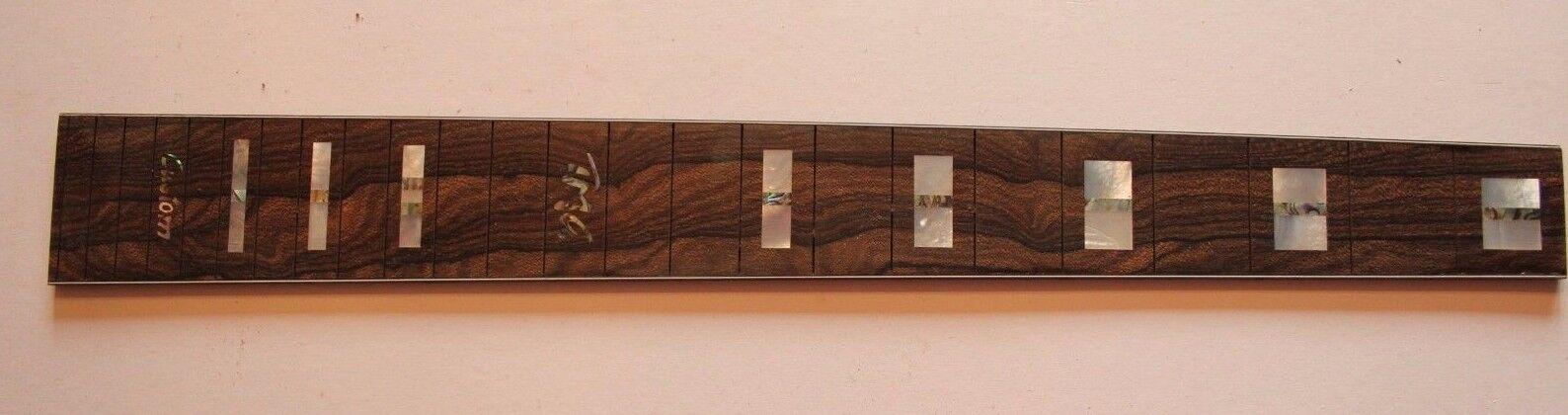 Schönes TMG Ziricote Griffbrett fretboard  MOP Abalone Inlays Gitarrenbau