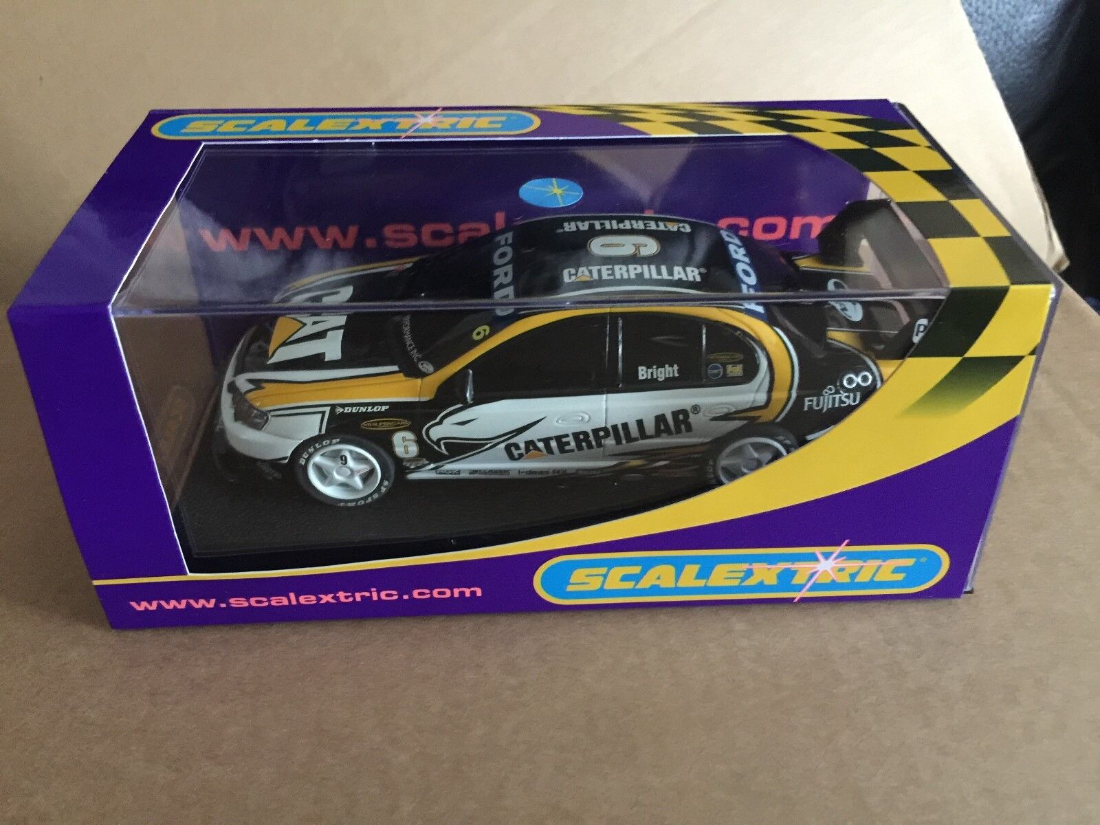 SCALEXTRIC discontinued Australian excl FORD FALCON BA CATERPILLAR NO 6 REFC2695