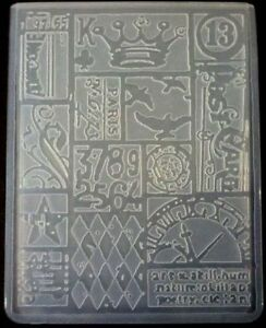Sizzix-Large-Embossing-Folder-PATCHWORK-TIM-HOLTZ-fits-Cuttlebug-4-5x5-75in