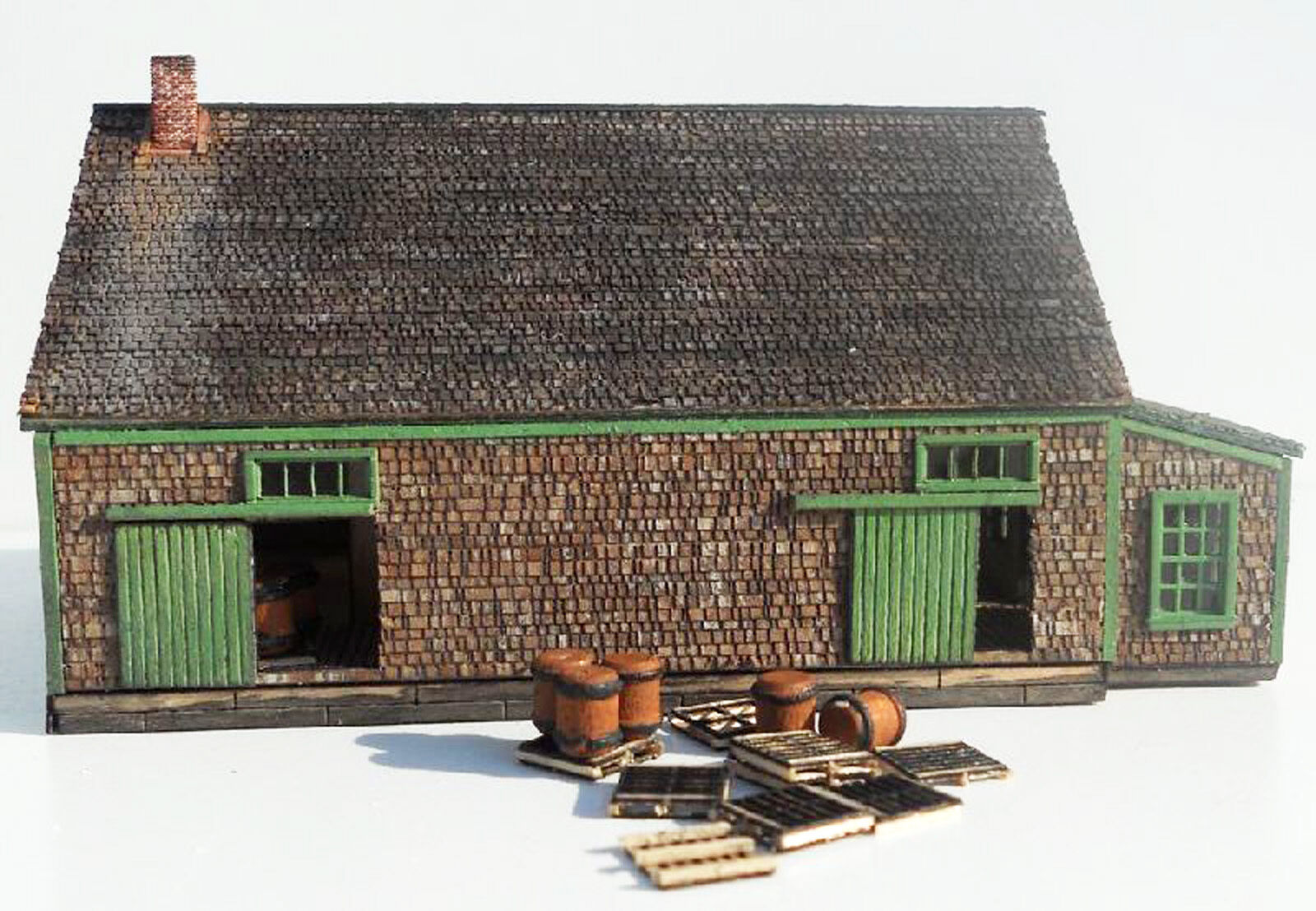 POTATO HOUSE N Scale Model Railroad Structure Unpainted Wood Laser Kit RSL302