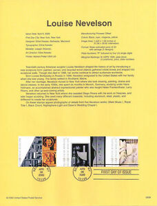 0008-Louise-Nevelson-Stamps-3379-3383a-Souvenir-Page