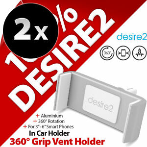 2 x Desire2 360° Grip Car Vent Holder Mount for Mobile Smart Phones Smartphones