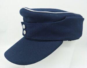 WWII GERMAN M43 WOOL FIELD CAP EAR FLAPS SKI CAP HAT SIZE XL