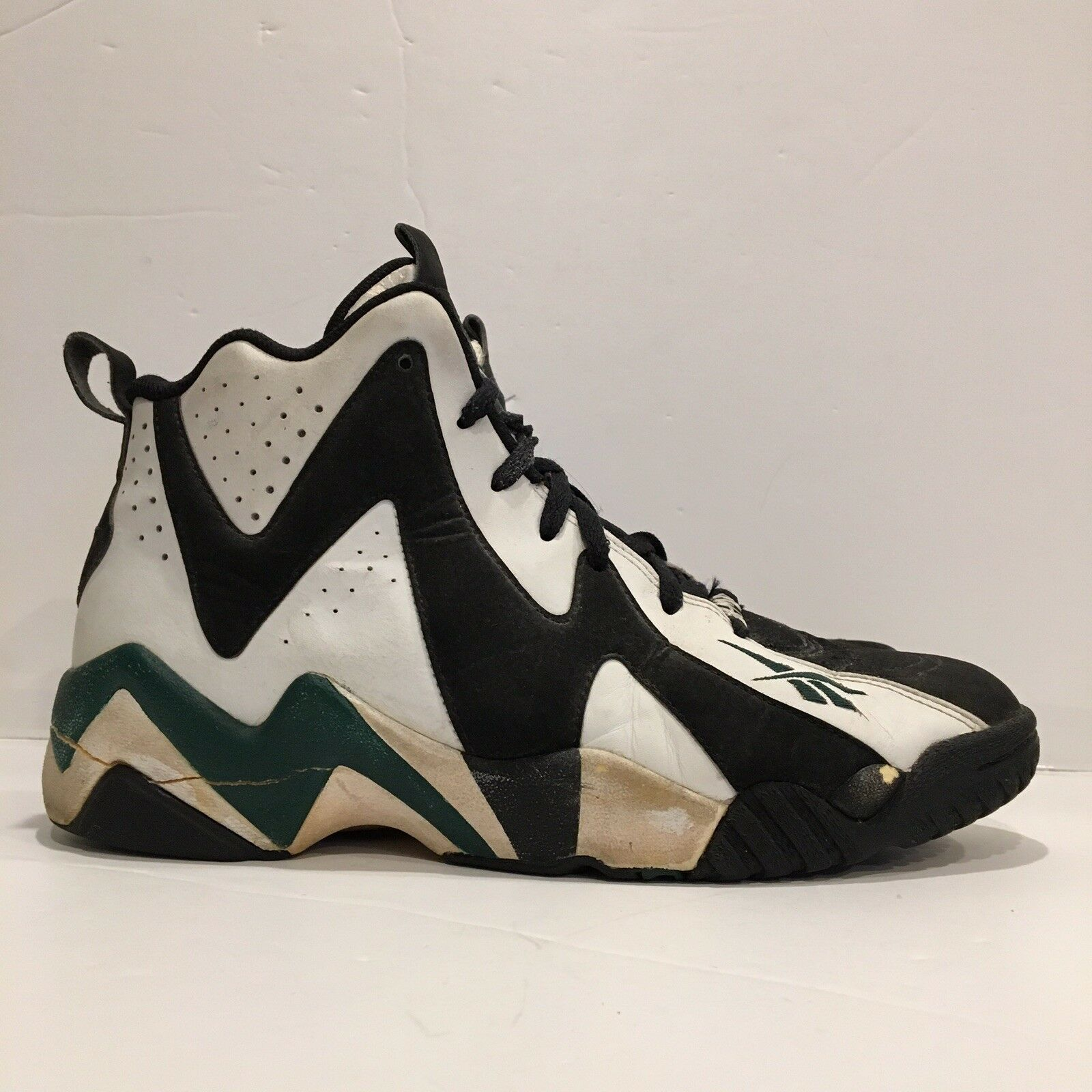 Reebok Kamikaze 2 II Mid sz 11 NBA Seattle Supersonics NBA Shawn Kemp OG 1995