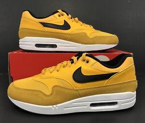 Details about Nike Air Max 1 Premium University Gold White Black BV1254 700 Men's Size 11.5