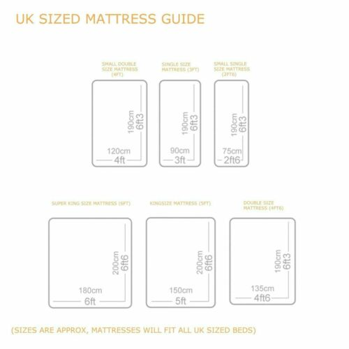 Luxury Spring 1500 Pocket Sprung Single Double King Size Memory Foam Mattress