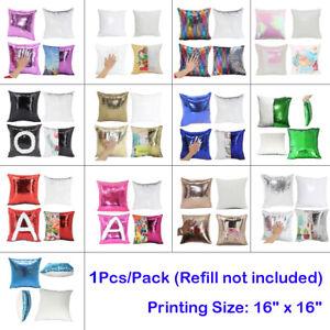 Purple Sublimation Blank Reversible Mermaid Pillowcase DIY Sequin Cover Glitter