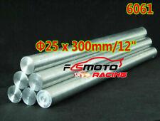 25mm X 300mm Aluminum 6061 Round Rod 25mm Diameter Solid Lathe Bar Stock Cut