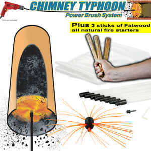 Chimney Sweep Power Sweep Use Your Drill Various Lengths