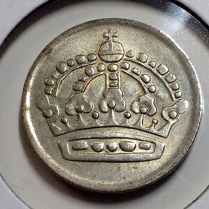 SWEDEN-1961-FIFTY-ORE-BETTER-GRADE-SILVER-COIN