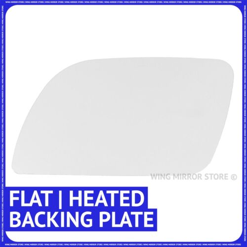 Left hand passenger side for VW Polo 02-05 Flat heated wing mirror glass plate