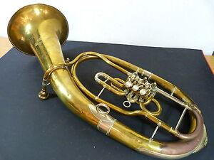 3-Ventile-Blechblasinstrument-Bariton-Horn-Mollenhauer-und-Soehne-Fulda-Trompete