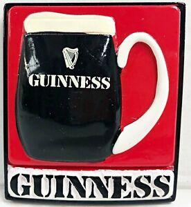 Retro-Pint-of-Guinness-Red-Background-Embossed-Fridge-Magnet-sg-5527