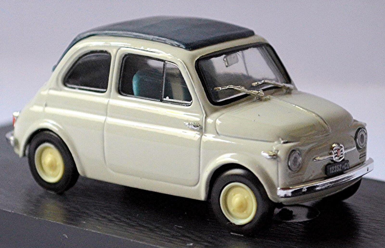Fiat Nuova 500 Canopy Cerrado 1957 gris Claro gris 1 43 Brumm