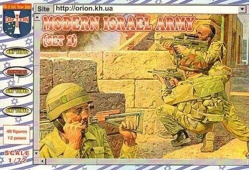 Orion ORI72012-1//72 Modern Israel army set 1 Neu