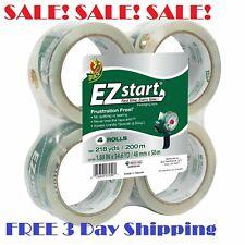 Duck Brand Ez Start Clear Packaging Tape Refill 188 X 546 Yd 1 4 8 Rolls