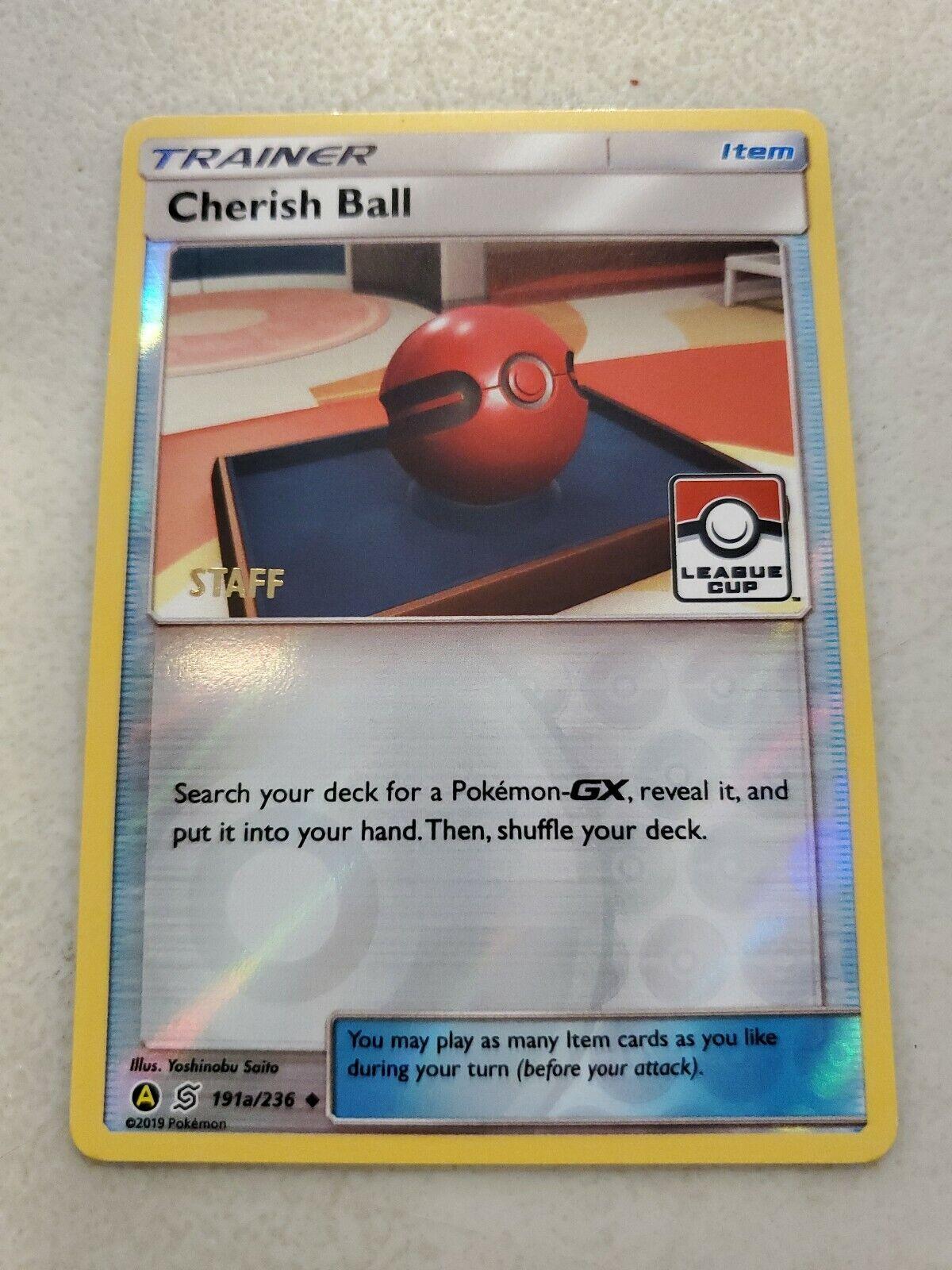 Pokemon Cherish Ball League Cup Staff Promo Mint Unplayed