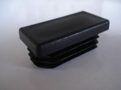 Embout pour tube rectangle 150x50mm 15x5cm bouchon ailette PVC obturateur
